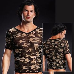 Blue Line - Футболка Pro-Mesh V-Neck Tee Camouflage S/M (BLM020GRCASM)